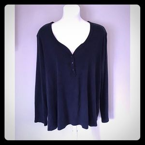 White Stag-Size XXL/(20) Navy Blue Long Sleeve Tee